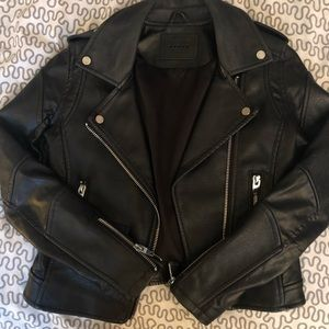 Faux moto Leather jacket